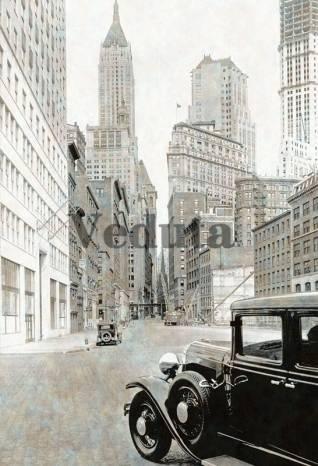 Фотообои, фреска Улица старого Нью Йорка, арт. 4889
