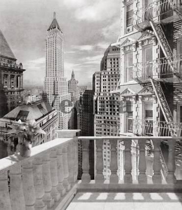 Фотообои, фреска Вид с балкона на Нью Йорк, арт. 4975
