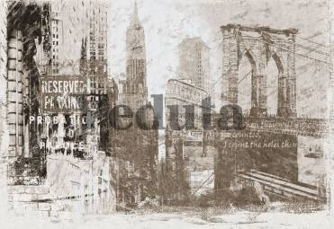Фотообои, фреска Коллаж старый Нью Йорк, арт. 7049