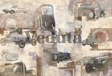 Фотообои, фреска Коллаж с автомобилями, арт. 7052