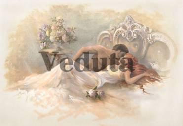 Фотообои, фреска Поцелуй на кровати, арт. 3333