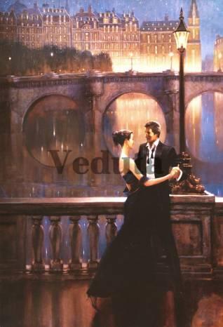 Фотообои, фреска Танец на вечерней набережной, арт. 3416