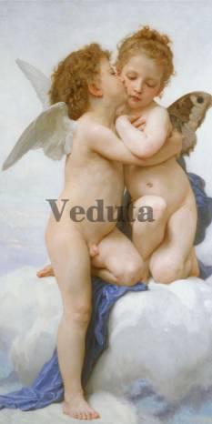 Фотообои, фреска Поцелуй ангелочка, арт. 3441