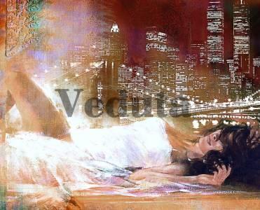 Фотообои, фреска Красота ночного Нью Йорка, арт. 7164