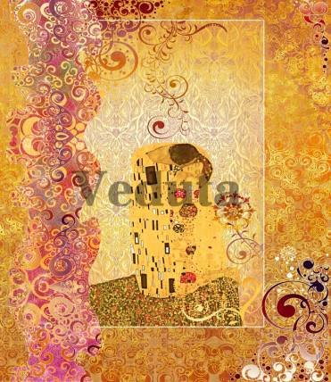 Фотообои, фреска Коллаж поцелуй Климт, арт. 7171