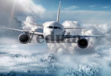 Фотообои, фреска Самолет в облаках, арт. 7109