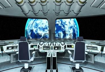Фотообои, фреска Командный пульт космического корабля, арт. ID135565
