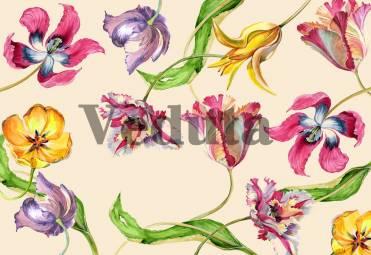 Фотообои, фреска Необычные тюльпаны, арт. 7118
