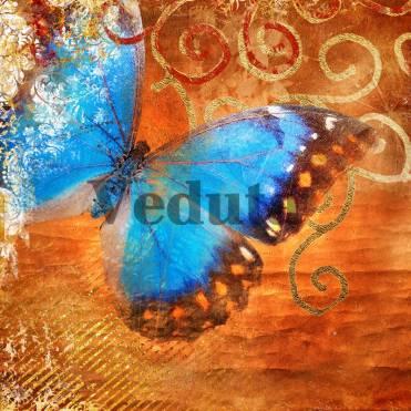 Фотообои, фреска Синяя бабочка, арт. ID10148