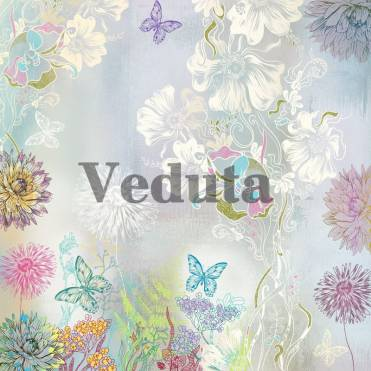 Фотообои, фреска Бабочки и цветы, арт. ID13228