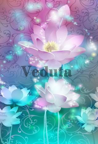 Фотообои, фреска Лиловые цветы, арт. 7173