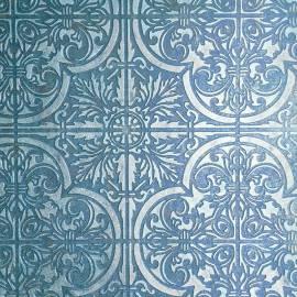 Обои, панно Объемный орнамент, арт. FabriKa19/53-13 blue