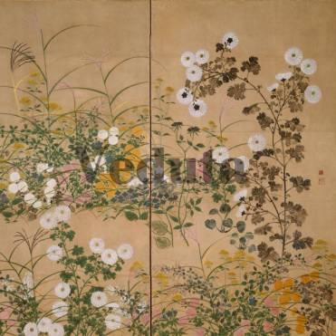 Фотообои, фреска Веточки растений цветов, арт. ID135687