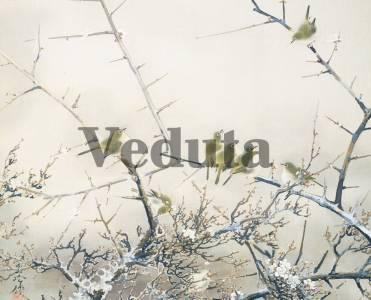 Фотообои, фреска Птицы на ветках, арт. ID135689