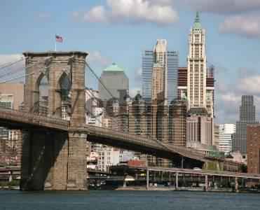 Фотообои, фреска Америка Бруклинский мост, арт. ID10050