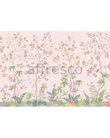 Обои, панно Бабочки и птички, арт. aff 718 vel 458