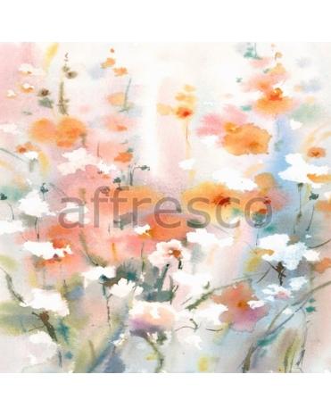 Фотообои, фреска Нарисованная цветочная композиция, арт. ID135653