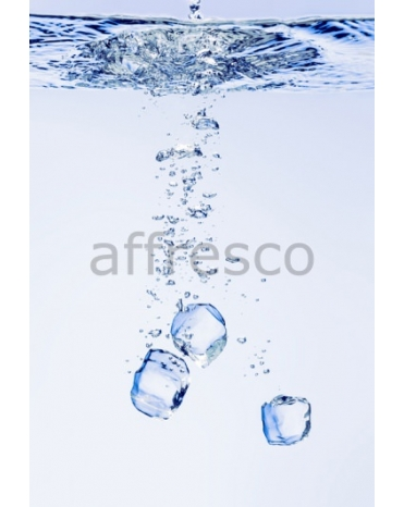 Фотообои, фреска Вода кубики льда, арт. ID12777