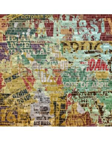 Фотообои, фреска Граффити кирпичная стена, арт. ID135645