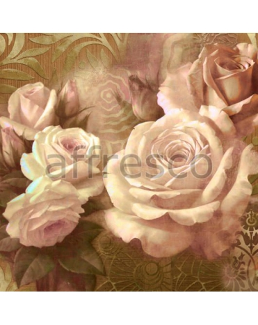 Фотообои, фреска Коллаж с розами, арт. ID135588