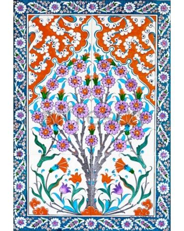 Фотообои, фреска Восточный орнамент с цветами, арт. ID135659