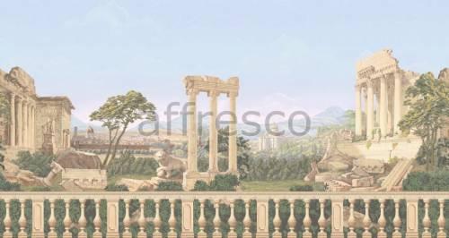 Обои, панно Античный пейзаж с колоннами, арт. aff 740 vel 477