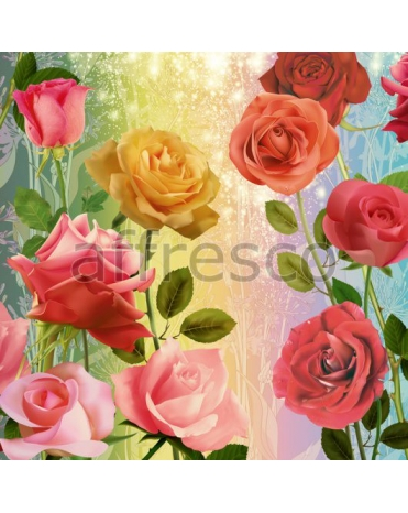 Фотообои, фреска Сюжет с розами, арт. 7177