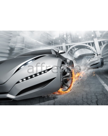 Фотообои, фреска Фантастические гоночные машины, арт. ID13306