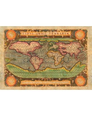 Фотообои, фреска Старая карта, арт. 0067