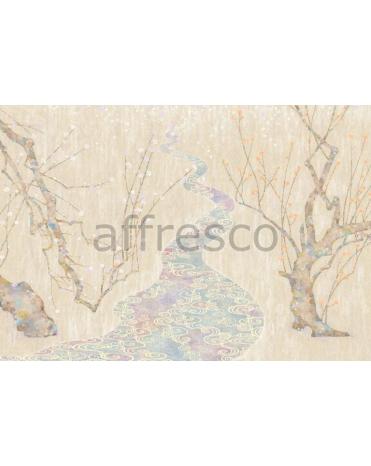Фотообои, фреска Японский акварельный рисунок, арт. 6898