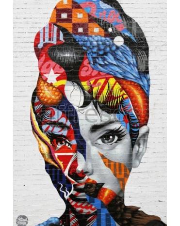 Фотообои, фреска Девушка современное искусство, арт. ID135644