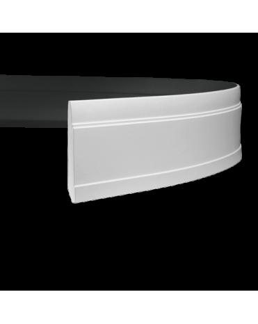 Плинтус гибкий Европласт 153102 из полиуретана