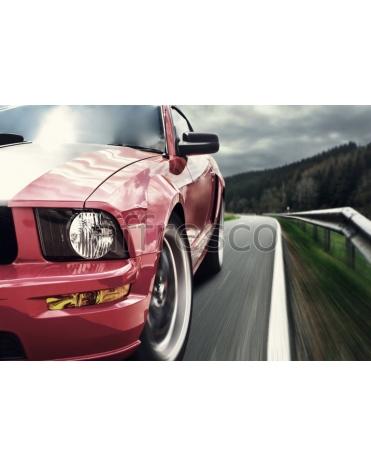 Фотообои, фреска Машина на дороге, арт. ID135564