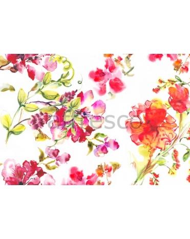 Фотообои, фреска Коллаж яркие цветы, арт. ID135648