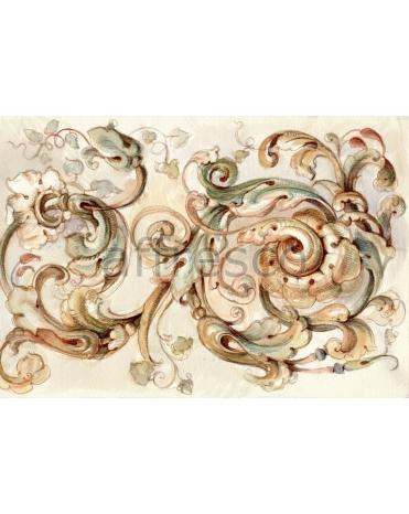 Фотообои, фреска Орнамент ветки растений, арт. ID135664