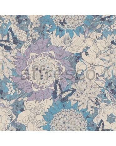 Обои, панно Бабочки и цветы, арт. Succulent palette 71