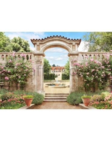 Обои, панно Арка дворцовый сад, арт. ms569
