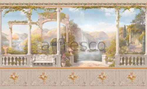 Обои, панно Альпийское озеро с водопадом, арт. aff 735 vel 428