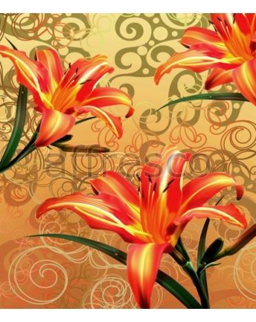 Фотообои, фреска Цветки лилии, арт. ID135570