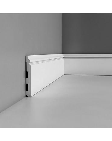 Плинтус Orac Decor SX118 из дюрополимера с кабель-каналом