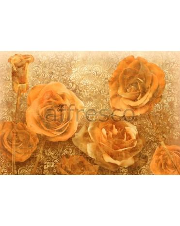 Фотообои, фреска Орнамент с розами, арт. 7108