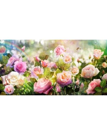 Фотообои, фреска Сад роз, арт. 7145
