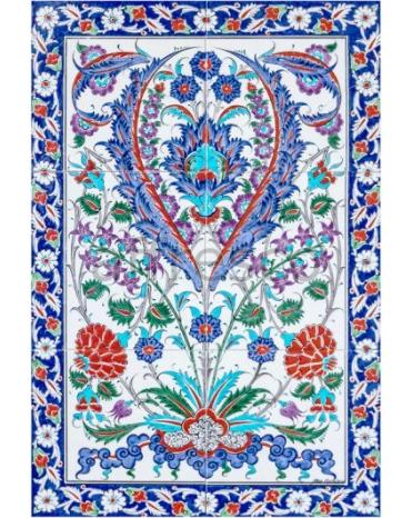 Фотообои, фреска Восточный цветочный орнамент, арт. ID135660