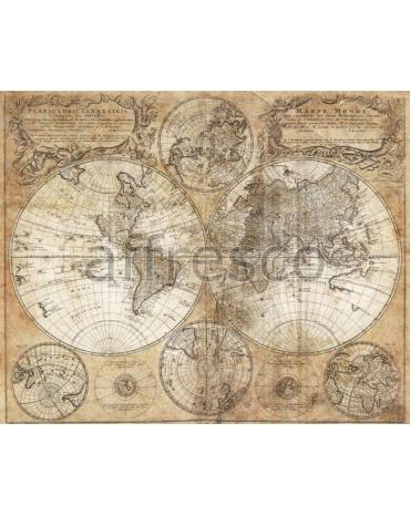 Фотообои, фреска Старинная карта, арт. A0622