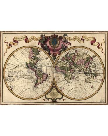 Фотообои, фреска Карта мира, арт. 0072