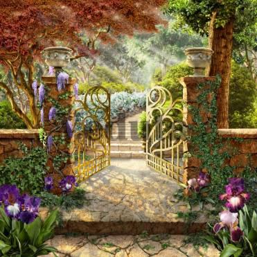 Фотообои, фреска Ажурные ворота, арт. 6498